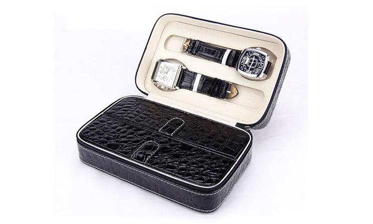两支装PU皮革高档手表包装盒  1