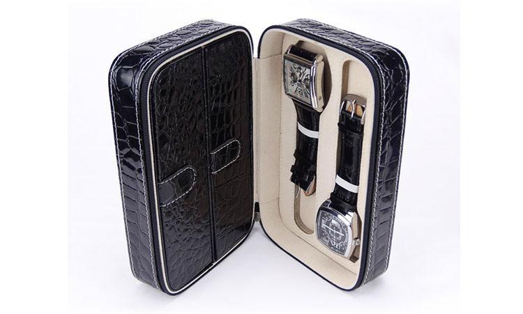 两支装PU皮革高档手表包装盒  4
