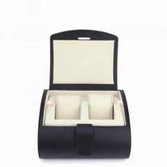 PU皮革手表包装盒双支定做