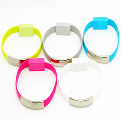 Colorful USB cable New Design Bracelet Data Cable with Charging and Sync