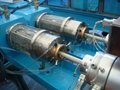 Double exit PP/PE pipe extrusion