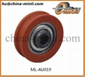 Plastic pulley for slide window and door
