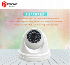 1.0 Megapixel 720P AHD 25m IR Outdoor Dome Security Camera