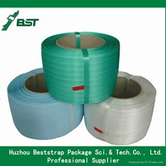 BST China Manufacturer 16mm High strength embossed green Polyester cord strap