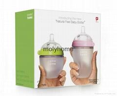 2015 Similar comotomo full silicone baby feeding bottle best price