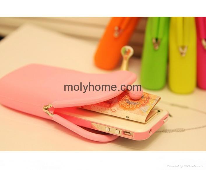 2015 promotion gift silicone wallet purse oem Custom design logo 4