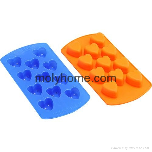 Custom Shape Silicone Ice Cube Tray Chocolate Muffin Mold  3