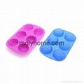 Custom Shape Silicone Ice Cube Tray Chocolate Muffin Mold  5