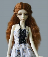 The Princess Wave Wigs for BJD Dolls Fashionable Synthetic Mohair Long Doll Hai