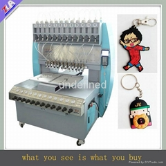 multi-functional pvc keychain making machine