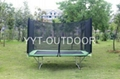 rectangle trampoline with enclosure 1