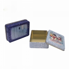 Food grade round cookie tin biscuit tin box for wholesale
