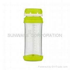 Anti-microbial Borosilicate Glass Water Bottle