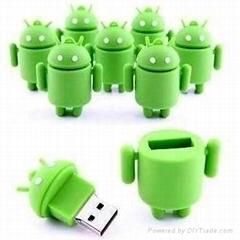 Stylish Android shape usb flash drive