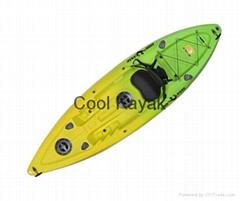 single seaters sit on top fishing kayak