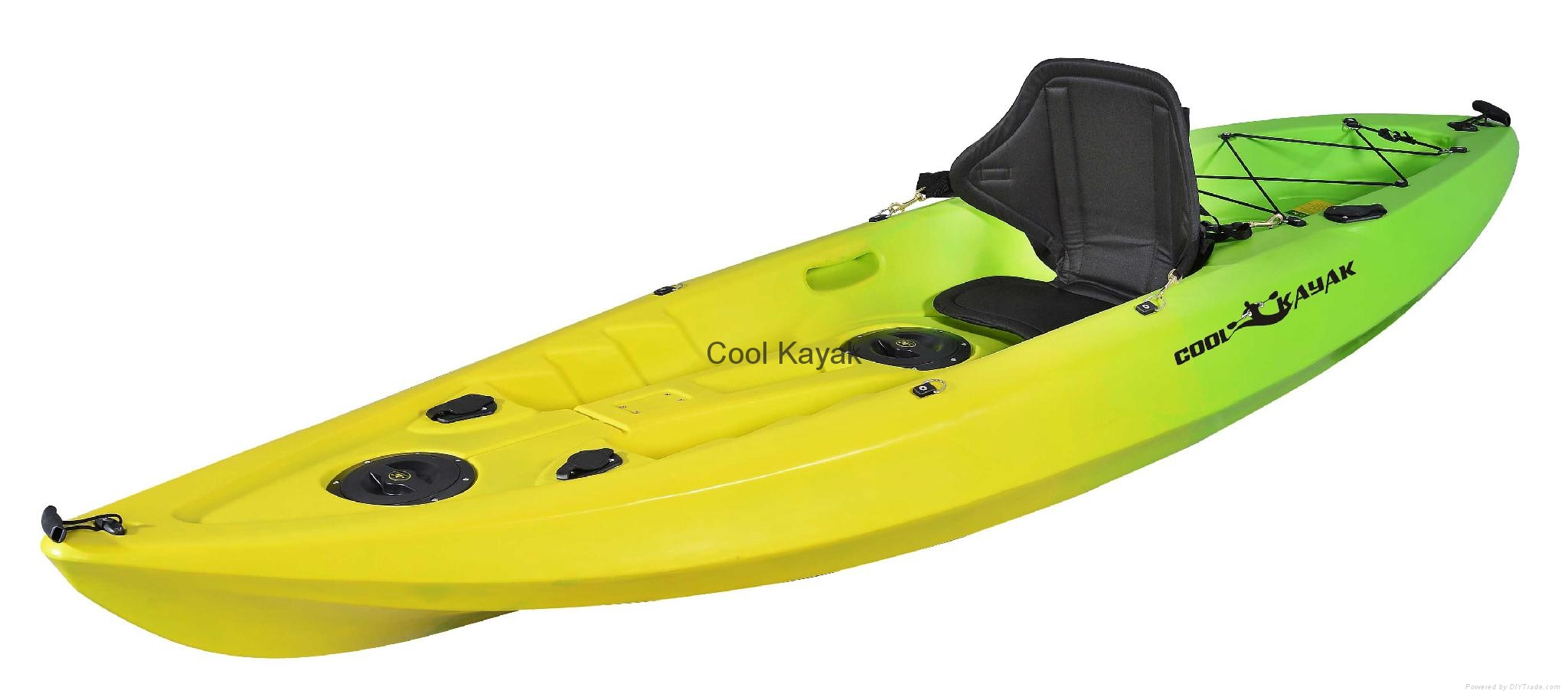 Single seaters sit on top fishing kayak conger cool for Sit on vs sit in kayak for fishing
