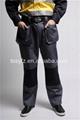 Custom mens gray 100% cotton FR cargo pants