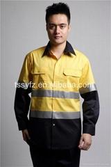 International mens long sleeve hi vis shirt