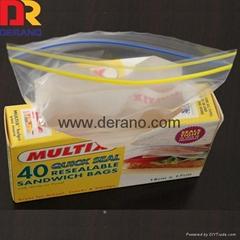 LDPE plastic resealable clear zipper bag
