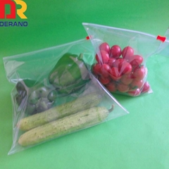 100% Virgin Ldpe Printed Zipper Plastic Slide Bag for Packaging