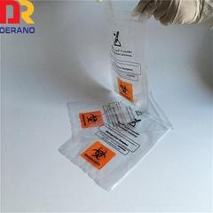 Plastic Ldpe printed multilayer specimen bag for lab