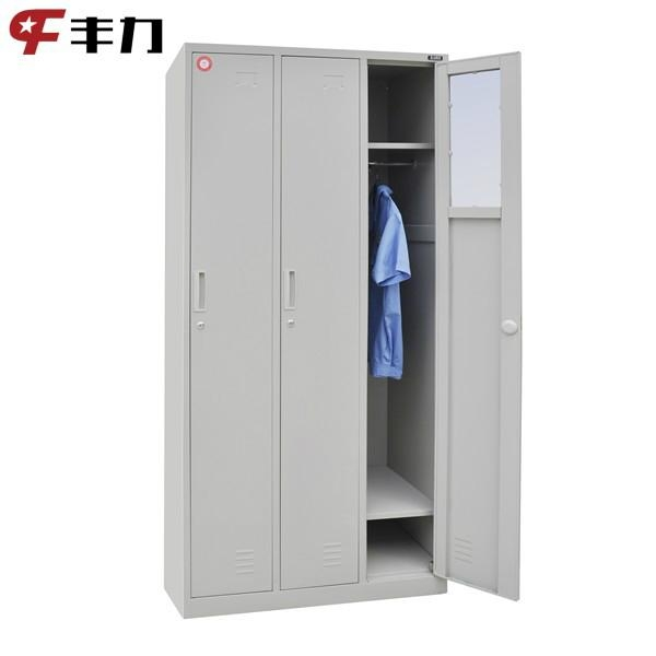 7ea536feb Godrej Metal Design 3 Doors Clothes Storage Lockers Almirah - FL-603 ...