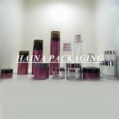 HN-PETG-MY  PETG plastic Jar and AS plastic bottle  , plastic cream jar