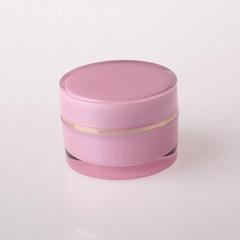 HN-AJ-01 Round acrylic cosmetic cream clear jar for personal care
