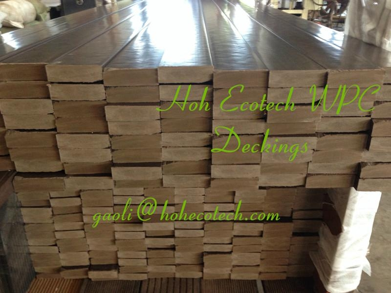 hollow wood board Outdoor patio composite decking wpc covering 2