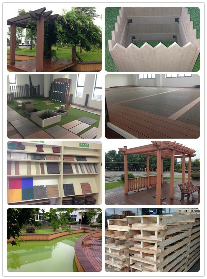 hollow wood board Outdoor patio composite decking wpc covering 5