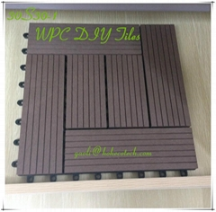 interlock easy install WPC DIY Tiles Hoh ecotech PE WPC