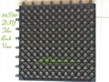 CE SGS certified wpc DIY tiles used outdoor building 2