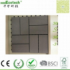 CE SGS certified wpc DIY tiles used outdoor building