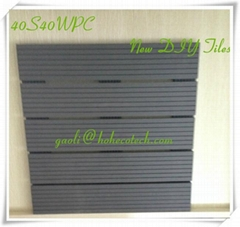 40*40 Wood plastic composite tile gazebo terraced decking WPC tiles