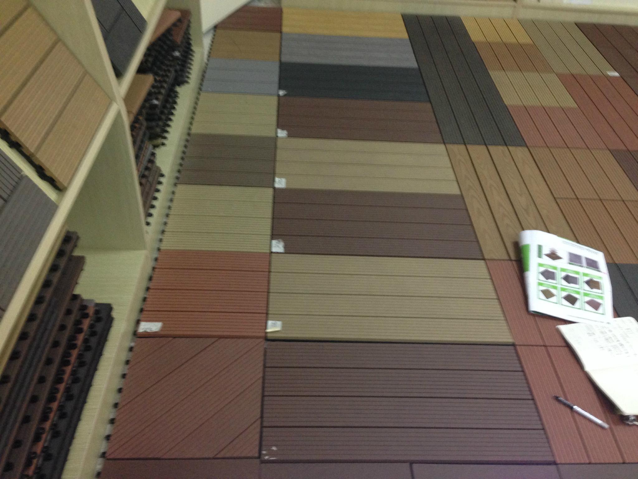 Composite Flooring Panels : Wood plastic composite tile gazebo terraced decking