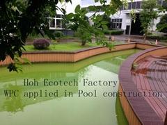 wpc decking for docks near water swim pool flooring