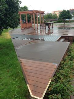 plastic composite decking BSCI modern WPC flooring Joist 3