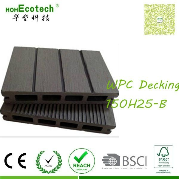 hollow wood board Outdoor patio composite decking wpc covering 1