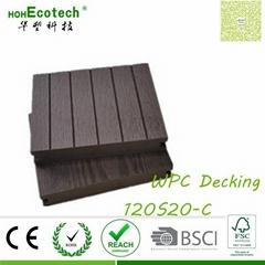 High density plank wood composite flooring WPC deck factory price