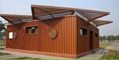 Durable wood weather proof CE lumber composite panels WPC Wall cladding