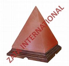 Himalayan Rock Pyramid Salt Lamps 6 x 5 x 5 Inches 6 Feets Cord Bulb w Base