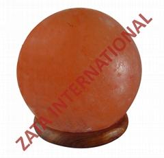 Himalayan Rock Globe Salt Lamps 5.25 x 5.5 x 5.5 Inches 6 Feets Cord Bulb w Base