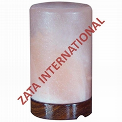 Himalayan Cylinder Salt Lamps 4 x 4 x 6 Inches 6 or 4.5 Feets Cord Bulb w Base