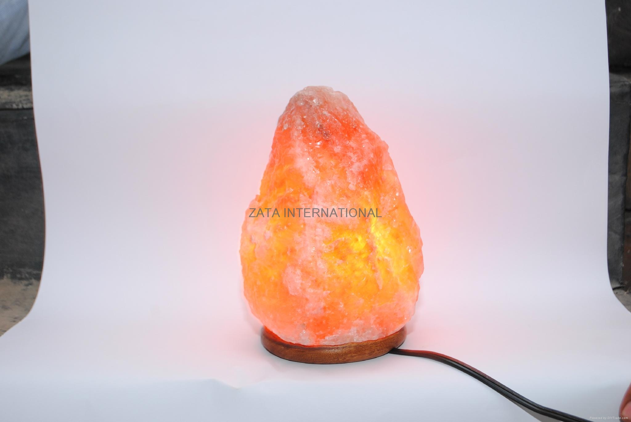 Himalayan Rock Salt Lamps Natural Ionizer 6.4 to 7.5 Kg 6 Feets Cord Bulb w Base 1