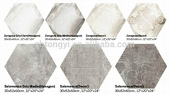 New hexagon bathroom ceramic tile for floor and wall