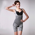Bamboo charcoal women body shaper of corset gray color xxl-xxl size