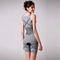 Bamboo charcoal women body shaper of corset gray color xxl-xxl size 3
