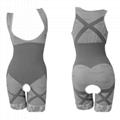 Bamboo charcoal women body shaper of corset gray color xxl-xxl size 2