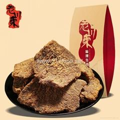 老川东牛肉片, 100g独立小包装牛肉片, 麻辣牛肉片, 五香牛肉片