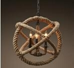 Hemp ropes art ceiling light indoor pendants lighting